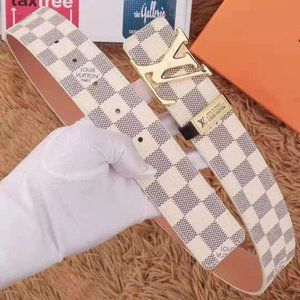 Louis Vuitton checked belt